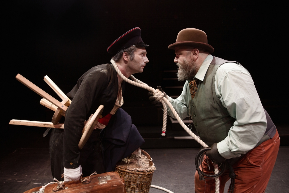 """repetition in the play waiting for godot by samuel beckett By shannon mcclain, guest writer the absurdist play """"waiting for godot,"""" written by samuel beckett, graced pacific lutheran university's studio theater last friday and saturday in the karen hille phillips center for the performing arts."""